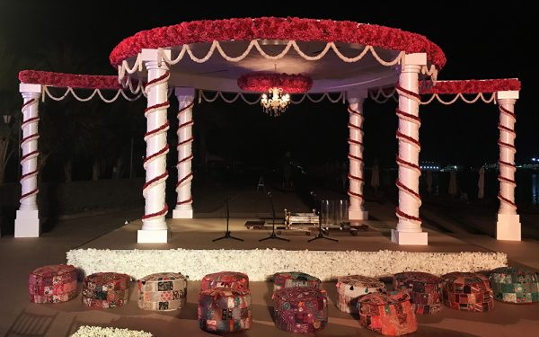 ZABEEL SARAY HOTEL Wedding pillar arch isel dubai rental main