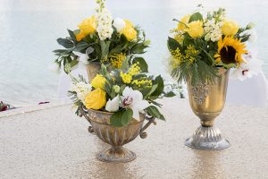 Haldi centerpiece wedding Dubai palm jumeirah