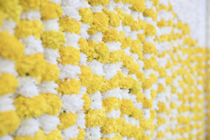 Haldi flower wall indian wedding Dubai palm jumeirah