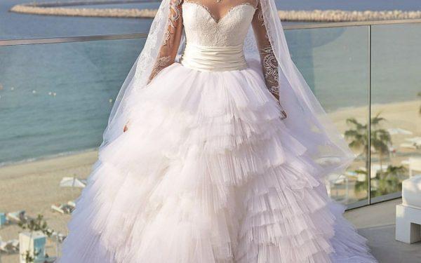 Ola Farahat wedding bridal dress wide nikki beach dubai