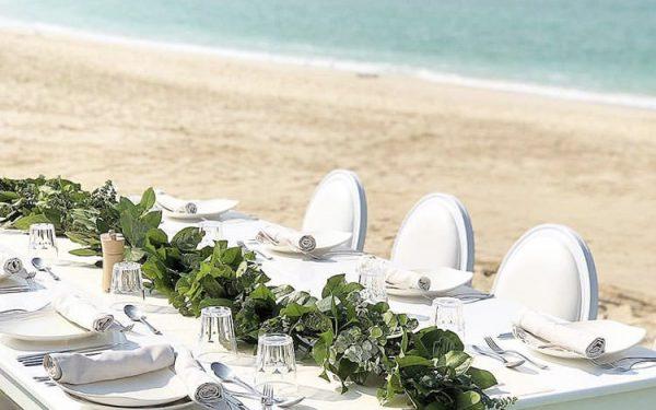 Ola Farahat wedding bridal love table nikki beach dubai