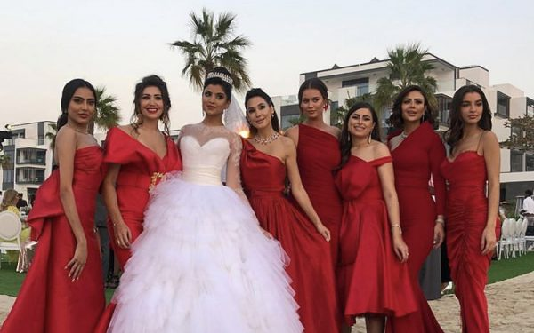 Ola Farahat wedding bridal matdes nikki beach dubai