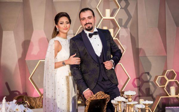 Omar and tara mahar bride and groom event five hotel palm island dubai
