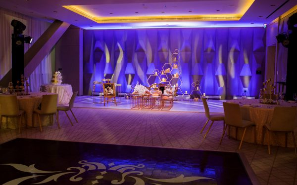 Omar and tara mahar engagment event five hotel palm island dubai