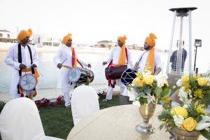 band Haldi indian wedding Dubai palm jumeirah