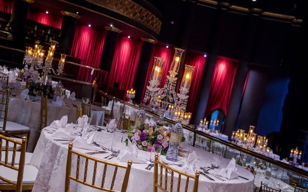 candelbra MUSIC HALL CEREMONY INDIAN WEDDING ZABEEL SARAY