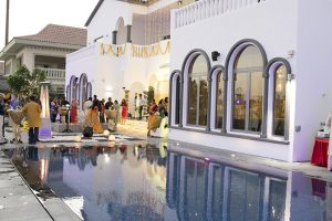 palm jumeriah Haldi indian wedding Abudhabi