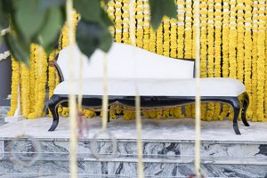 sofa Haldi indian wedding Dubai palm jumeirah