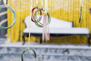 stage Haldi indian wedding Dubai palm jumeirah